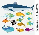 fish design over white... | Shutterstock .eps vector #214682788