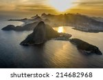 aerial view of the sunset at... | Shutterstock . vector #214682968