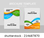 flyer template back and front... | Shutterstock .eps vector #214687870