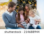 family with children at home | Shutterstock . vector #214688944