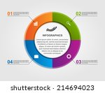 abstract circle infographic...