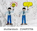 people talking and speech bubble | Shutterstock . vector #214695706