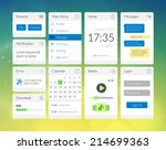 mobile flat interface elements...