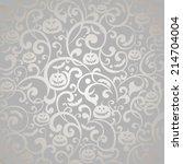 halloween background. vector...   Shutterstock .eps vector #214704004