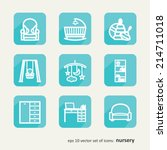 children. nursery. set of icons.... | Shutterstock .eps vector #214711018