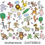 children's drawings    Shutterstock .eps vector #214720813