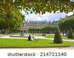Place des Vosges - the old square in Paris, France  - stock photo