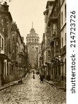istanbul  turkey   circa 1900's ... | Shutterstock . vector #214723726