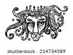 lion   Shutterstock .eps vector #214734589