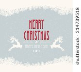merry christmas snow background   Shutterstock .eps vector #214739518