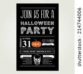 invitation halloween.vector... | Shutterstock .eps vector #214744006