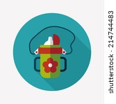 kid water bottle flat icon with ...