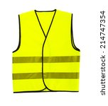 driver safety vest isolated | Shutterstock . vector #214747354