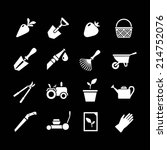 set icons of garden isolated on ... | Shutterstock .eps vector #214752076