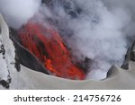 Molten Lava Flowing From...