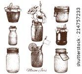 vector collection of ink hand... | Shutterstock .eps vector #214757233