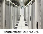 global data center walkway... | Shutterstock . vector #214765276