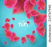 green leaves | Shutterstock .eps vector #214767940