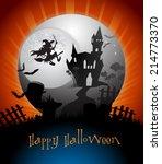 halloween card | Shutterstock .eps vector #214773370