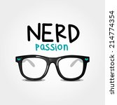 nerd passion. vector... | Shutterstock .eps vector #214774354