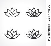 Abstract Lotus Symbols. Vector...