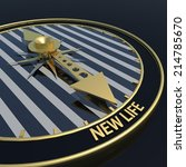 new life clock   golden pointer ... | Shutterstock . vector #214785670