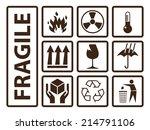 fragile symbols  using on...   Shutterstock .eps vector #214791106