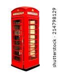 Classic British Red Phone Booth ...