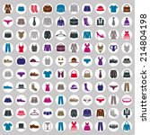 clothes icons vector collection ... | Shutterstock .eps vector #214804198
