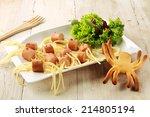 Wiener And Noodle Spider Snack...