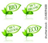 collection of 4 ecology banners. | Shutterstock . vector #214809688