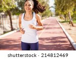 beautiful young brunette... | Shutterstock . vector #214812469