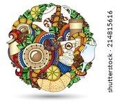coffee sketchy notebook doodles.... | Shutterstock . vector #214815616