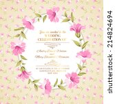 vintage floral ornament over... | Shutterstock .eps vector #214824694