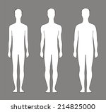 illustration of male silhouette.... | Shutterstock . vector #214825000