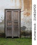 old wall with door building   Shutterstock . vector #214826920
