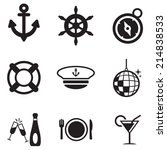 boat cruise icons | Shutterstock .eps vector #214838533