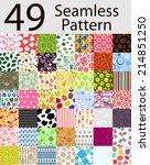 49 seamless pattern set ... | Shutterstock . vector #214851250