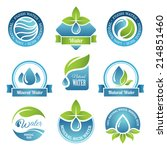 set of water emblems and labels ... | Shutterstock .eps vector #214851460