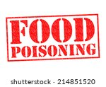 food poisoning red rubber stamp ... | Shutterstock . vector #214851520
