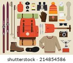 vector flat illustration of... | Shutterstock .eps vector #214854586