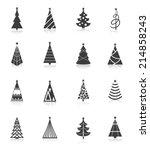 christmas tree celebration... | Shutterstock .eps vector #214858243