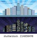 modern urban building cityscape ... | Shutterstock .eps vector #214858498