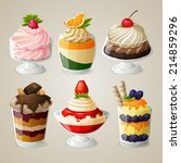 decorative sweets food ice... | Shutterstock .eps vector #214859296