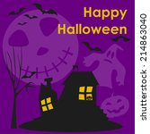 halloween vector background | Shutterstock .eps vector #214863040