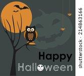 halloween vector background | Shutterstock .eps vector #214863166