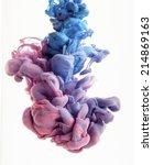 color drop in water ... | Shutterstock . vector #214869163