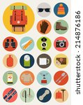 Vector Flat Round Icons Of...