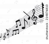 music design over  white...   Shutterstock .eps vector #214876810