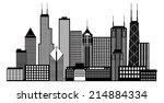 chicago city skyline panorama... | Shutterstock .eps vector #214884334